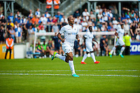 Andre Ayew of Swansea City  in action during the Pre Season friendly match between Swansea City and Rovers played at the Memorial Stadium, Bristol on July 23rd 2016