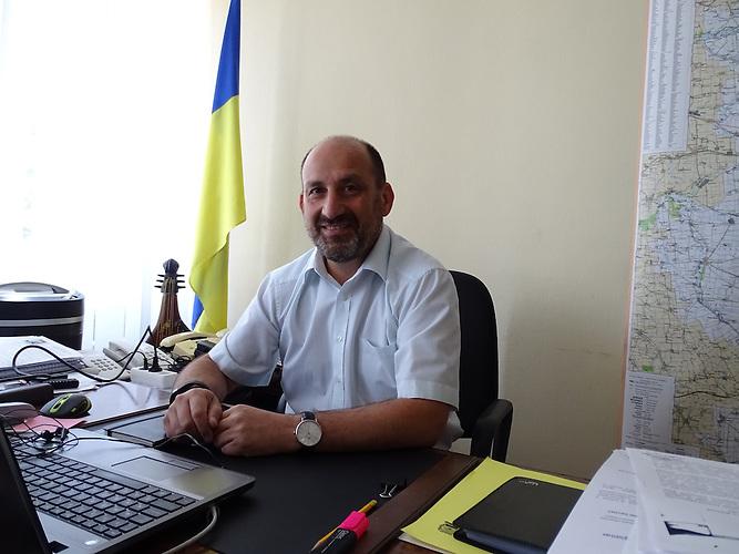 Jewgen-Wilinsky,Seit einem Jahr ist Wilinsky als Vize-Gouverneur für Infrastruktur zuständig./  Kramatorsk liegt im ukrainischen Teil des Donbass 80 km von der Frontlinie entfernt. Die Bewohner sind sehr patriotisch.