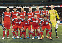 07 March 2012: The Toronto FC starting eleven at the start of a CONCACAF Champions League game between the LA Galaxy and Toronto FC at the Rogers Centre in Toronto..The game ended in a 2-2 draw.
