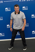 Matt Damon at the &quot;Suburbicon&quot; photocall, 74th Venice Film Festival in Italy on 2 September 2017.<br /> <br /> Photo: Kristina Afanasyeva/Featureflash/SilverHub<br /> 0208 004 5359<br /> sales@silverhubmedia.com