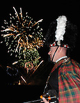 ALFRED DUNHILL LINKS CHAMPIONSHIP, ST.ANDREWS 2007. 4TH-7TH OCTOBER..PIPER AND FIREWORKS BEFORE CHAMPIONSHIP DINNER..6-10-07 PIC BY IAN MCILGORM