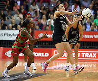 31.10.2013 Silver Fern Joline Henry in action during the Silver Ferns V Malawi during the New World Netball Series played at the Claudelands Arena in Hamilton. Mandatory Photo Credit ©Michael Bradley.