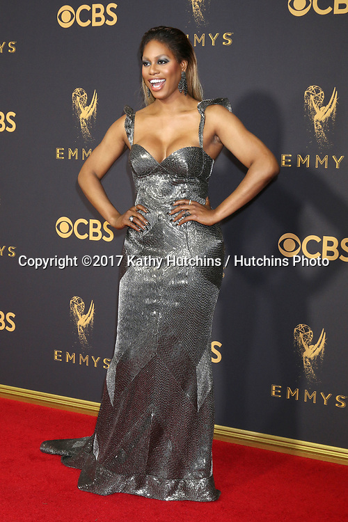 LOS ANGELES - SEP 17:  Laverne Cox at the 69th Primetime Emmy Awards - Arrivals at the Microsoft Theater on September 17, 2017 in Los Angeles, CA