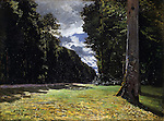 Claude Monet - Le Pave de Chailly in the Forest of Fontainebleau (1865). Copenhague, Ordrupgaard.