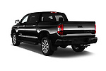 Car pictures of rear three quarter view of 2018 Toyota Tundra Limited-Crew-Max-Short-Bed 4 Door Pickup Angular Rear