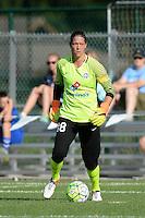 Kansas City, MO - Saturday July 16, 2016: Nicole Barnhart during a regular season National Women's Soccer League (NWSL) match between FC Kansas City and the Washington Spirit at Swope Soccer Village.