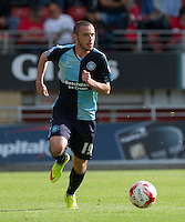 Michael Harriman of Wycombe Wanderers in action during the Sky Bet League 2 match between Leyton Orient and Wycombe Wanderers at the Matchroom Stadium, London, England on 19 September 2015. Photo by Andy Rowland.