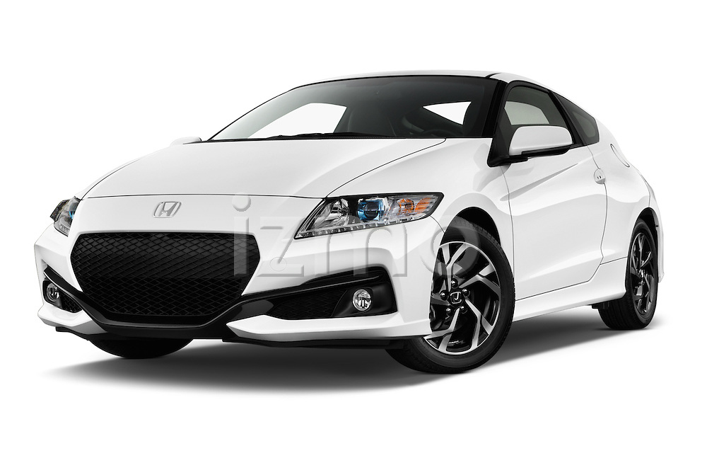 Stock pictures of low aggressive front three quarter view of 2016 Honda CRZ EX 3 Door Hatchback Low Aggressive