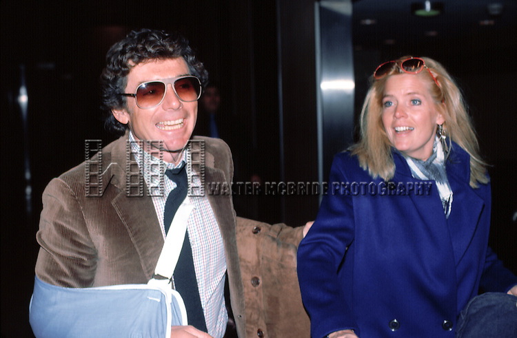 David Birney & Meredith Baxter Birney  leaving the Waldorf Astoria Hotel in New York City.