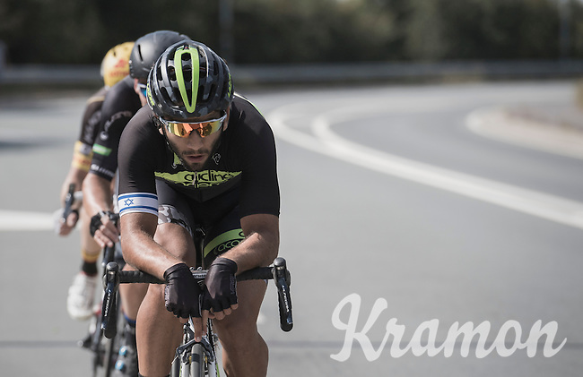 Aviv Yechezkel (ISR/Cycling Academy Team) leading the race<br /> <br /> 91th Schaal Sels 2016