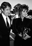 Jane Fonda and Tom Hayden  attending the Barbra Streisand 'One Voice' Concert in 1982 in Los Angeles, California.
