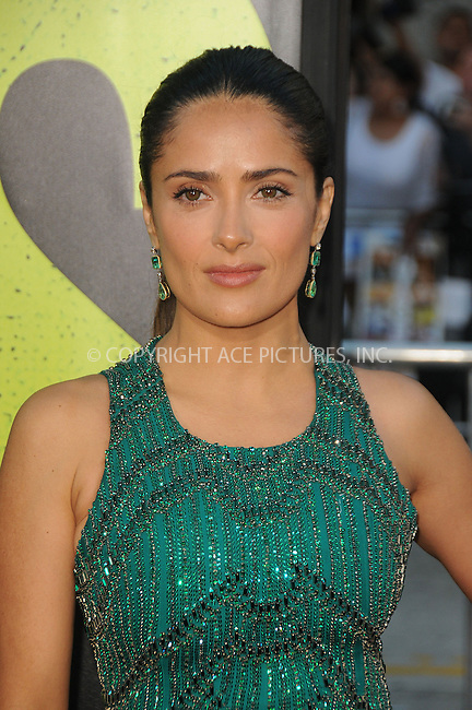 WWW.ACEPIXS.COM . . . . .  ....June 25 2012, LA....Actress Salma Hayek arriving at the premiere of ' 'Savages' at Westwood Village on June 25, 2012 in Los Angeles, California....Please byline: PETER WEST - ACE PICTURES.... *** ***..Ace Pictures, Inc:  ..Philip Vaughan (212) 243-8787 or (646) 769 0430..e-mail: info@acepixs.com..web: http://www.acepixs.com