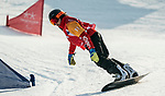 PyeongChang 12/3/2018 - Sandrine Hamel during the snowboard cross competition at the Jeongseon Alpine Centre during the 2018 Winter Paralympic Games in Pyeongchang, Korea. Photo: Dave Holland/Canadian Paralympic Committee