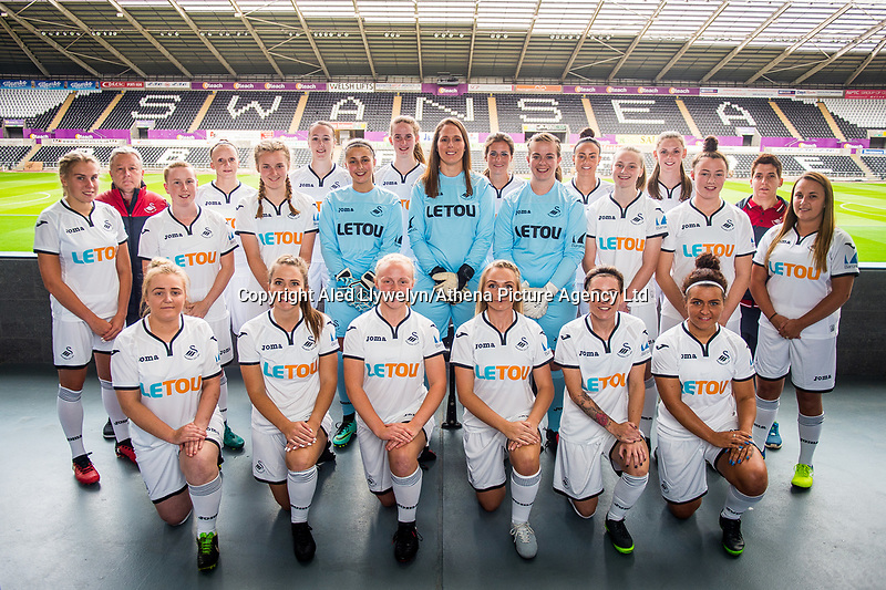 Wedensday 26 July 2017<br />Pictured: <br />Re: Swansea City Ladies Squad 2017- 2018 at the Liberty Stadium, Wales, UK