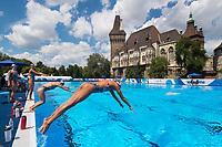 United States team during training <br /> Synchronised swimming , Synchro<br /> 12/07/2017 <br /> XVII FINA World Championships Aquatics<br /> City Park - Varosliget Lake<br /> Budapest Hungary <br /> Photo Andrea Staccioli/Deepbluemedia/Insidefoto