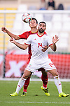 Seyed Saman Ghoddoos of Iran (R) fights for the ball with B T Dung of Vietnam during the AFC Asian Cup UAE 2019 Group D match between Vietnam (VIE) and I.R. Iran (IRN) at Al Nahyan Stadium on 12 January 2019 in Abu Dhabi, United Arab Emirates. Photo by Marcio Rodrigo Machado / Power Sport Images