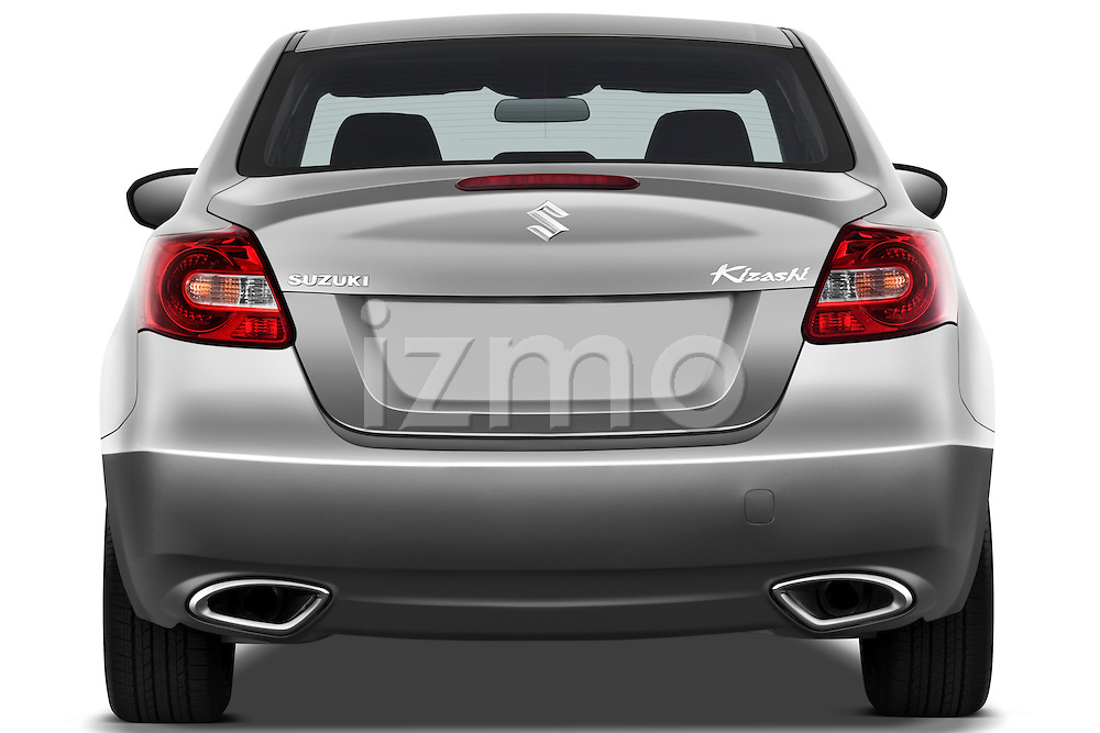 Straight rear view of a 2010 Suzuki Kizashi SLS