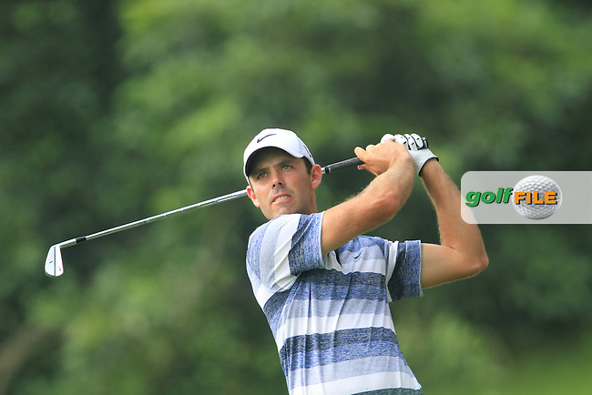 Charl Schwartzel (RSA) on the 16th tee on Day 1 of the Maybank Malaysian Open 2012 at Kuala Lumpur Golf and Country Club, Kuala Lumpur, Malaysia...(Photo Jenny Matthews/www.golffile.ie)