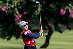Ha-Na Jang of Korea in action during the Hyundai China Ladies Open 2014 at World Cup Course in Mission Hills Shenzhen on December 14  2014, in Shenzhen, China. Photo by Li Man Yuen / Power Sport Images