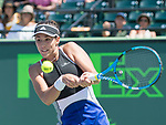 March 26 2018: Garbine Muguruza (ESP) loses to Sloane Stephens (USA) 3-6, 4-6, at the Miami Open being played at Crandon Park Tennis Center in Miami, Key Biscayne, Florida. ©Karla Kinne/Tennisclix/CSM
