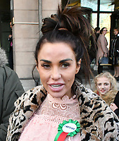 Katie Price, Loose Women panellist, gives evidence in Parliament at Parliamentary Select Committee meeting on how online abuse has affected her family, after an online petition she started gained over 200k public signatures, at House of Commons, London on February 06, 2018.<br /> CAP/JOR<br /> &copy;JOR/Capital Pictures /MediaPunch ***NORTH AND SOUTH AMERICAS ONLY***