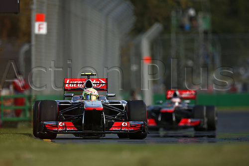 15.03.2013 Melbourne, Australia.  Sergio Perez during the practice session ahead of the Australian Grand Prix.