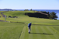 Gerry McManus (IRL) tees off the 6th tee at Pebble Beach course during Friday's Round 2 of the 2018 AT&amp;T Pebble Beach Pro-Am, held over 3 courses Pebble Beach, Spyglass Hill and Monterey, California, USA. 9th February 2018.<br /> Picture: Eoin Clarke | Golffile<br /> <br /> <br /> All photos usage must carry mandatory copyright credit (&copy; Golffile | Eoin Clarke)