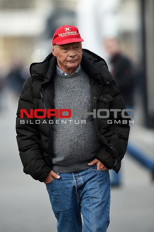Formel 1 Testfahrten 2016 in Barcelona<br /> Niki Lauda im Fahrerlager<br /> <br /> <br /> Foto &copy; nordphoto /  Bratic