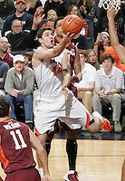 during the game Saturday in Charlottesville, VA. Virginia won 65-45. Photo/The Daily Progress/Andrew Shurtleff
