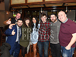 Eoin Walsh, John Paul Donnelly, Maria Kiernan, Megan Murphy Byrne, Conor Tolan, Clive Fitzpatrick and James Leech at the Drogheda Pantomime Society reunion in the Thatch. Photo:Colin Bell/pressphotos.ie