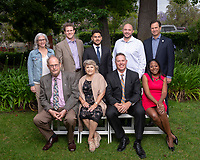 2019 Alumni Seal Award recipients, Friday, June 21, 2019 at Collins House Office of Admission.<br />