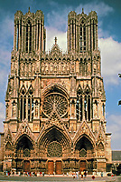 French and English Gothic. The image is an example of the style of architecture featured in this gallery.