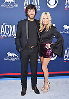 LAS VEGAS, CA - APRIL 07: Chris Janson (L) and Kelly Lynn attend the 54th Academy Of Country Music Awards at MGM Grand Hotel &amp; Casino on April 07, 2019 in Las Vegas, Nevada.<br /> CAP/ROT/TM<br /> &copy;TM/ROT/Capital Pictures