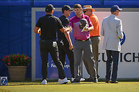 Padraig Harrington (IRL) shakes hands with Jason Day (AUS) before Round 4 of the Zurich Classic of New Orl, TPC Louisiana, Avondale, Louisiana, USA. 4/29/2018.<br /> Picture: Golffile | Ken Murray<br /> <br /> <br /> All photo usage must carry mandatory copyright credit (&copy; Golffile | Ken Murray)