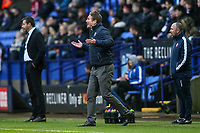 Bolton Wanderers' manager Phil Parkinson urges his side on<br /> <br /> Photographer Andrew Kearns/CameraSport<br /> <br /> The EFL Sky Bet Championship - Bolton Wanderers v Fulham - Saturday 10th February 2018 - Macron Stadium - Bolton<br /> <br /> World Copyright &copy; 2018 CameraSport. All rights reserved. 43 Linden Ave. Countesthorpe. Leicester. England. LE8 5PG - Tel: +44 (0) 116 277 4147 - admin@camerasport.com - www.camerasport.com