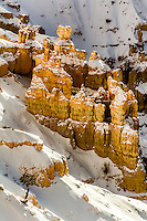 Bryce Canyon National Park in Utah after a winter snow.