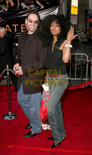 "DIANA ROSS.The Los Angeles Premiere of ""Collateral"" held at The historic Orpheum Theatre in Downtown Los Angeles, California .August 2,2004.full length, hand, funny, gesture, jeans, denim.www.capitalpictures.com.sales@capitalpictures.com.Supplied By Capital Pictures"