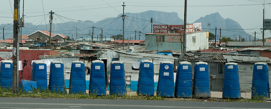 The bucket system is used extensively in the local townships of South Africa. These portable toilets were supposed to be an interim measure, but due to the enormous backlog of housing, it is a sad normality for many South Africans.