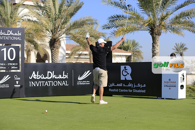 Rob Hersov on the 10th tee to start his match during the 2015 Abu Dhabi Invitational Am-Am event held at Yas Links Golf Course, Abu Dhabi.: Picture Eoin Clarke, www.golffile.ie: 1/26/2015