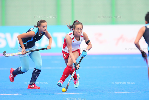 Shihori Oikawa (JPN), <br /> SEPTEMBER 26, 2014 - Hockey : <br /> Women's Preliminary <br /> between Kazakhstan Women's 0-8 Japan Women's <br /> at Seonhak Hockey Stadium <br /> during the 2014 Incheon Asian Games in Incheon, South Korea. <br /> (Photo by YUTAKA/AFLO SPORT)