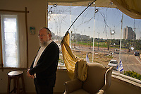 Ashqelon, Israel, Jan 06, 2009.A Grad rocket fired on January 5 from the Gaza strip more than 20km away struck close to the house of Rabbi Arie Salomon, causing minor damage and no injuries.