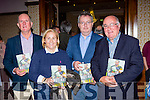 Sean O'Cathain Ventry, Norma Moriarty Waterville, Michael Moynihan Kiskeam and Derry Murphy Dingle at the launch of Tomas O'Sé  autobiography The White Heat in the Brehon Hotel on Sunday night