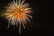 Fireworks over Lincoln, New Hampshire USA