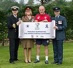 Rangers support the Armed Forces Covenant. Lt Cdr Gary Farmer Royal Navy, Mark Warburton, Colonel Stephanie Jackman, Flight Lt Sandy McKenzie RAF