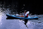 Woman kayaking on Lindsey Lake