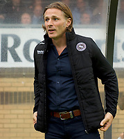 Manager Gareth Ainsworth of Wycombe Wanderers during the Carabao Cup match between Wycombe Wanderers and Fulham at Adams Park, High Wycombe, England on 8 August 2017. Photo by Alan  Stanford / PRiME Media Images.