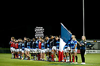 The French Barbarians line up prior to the rugby match between the Highlanders and the French Barbarians at Rugby Park in Invercargill, New Zealand on Friday, 22 June 2018. Copyright Image: Joe Allison / lintottphoto.co.nz