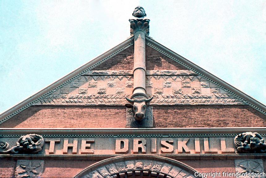 Austin: The Driskill Hotel, detail. National Register of Historic Places, 1969. Designed by Jaspar S. Preston & Son. Built by Col. Jesse Driskill, a cattleman.