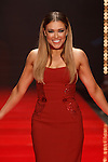 Singer Rachel Platten walks runway in a red dress by Marchesa, for the Red Dress Collection 2017 fashion show, for The American Heart Association, presented by Macy's at the Hammerstein Ballroom in New York City on February 9, 2017; during New York Fashion Week Fall 2017.