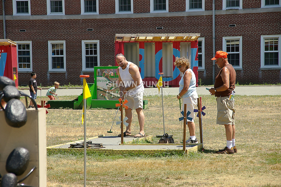 Visitors playing miniature golf during my Governors Island bike ride on July 17, 2011. http://tinyurl.com/4342uth